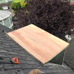 Flat roof repair before